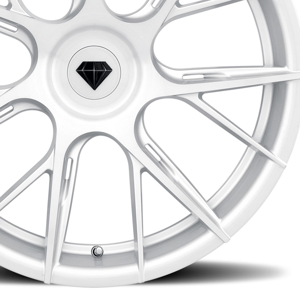 "19"" Blaque Diamond BD-F18 Silver Rims Forged Wheels Fits"