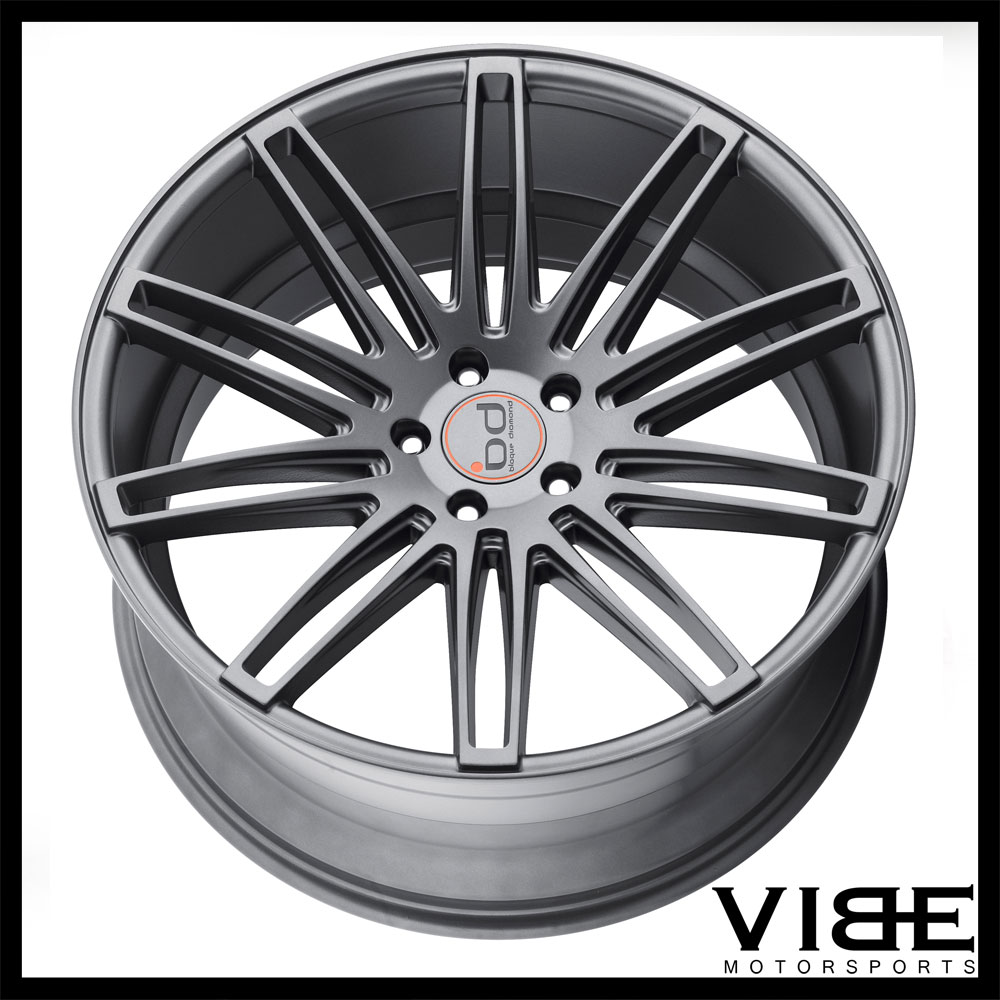 22 blaque diamond bd2 graphite concave wheels rims fits. Black Bedroom Furniture Sets. Home Design Ideas