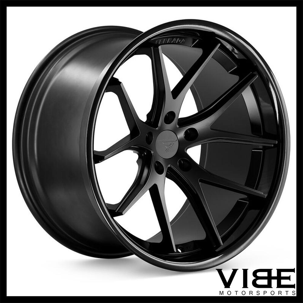 19 ferrada fr2 black concave wheels rims fits nissan 370z. Black Bedroom Furniture Sets. Home Design Ideas