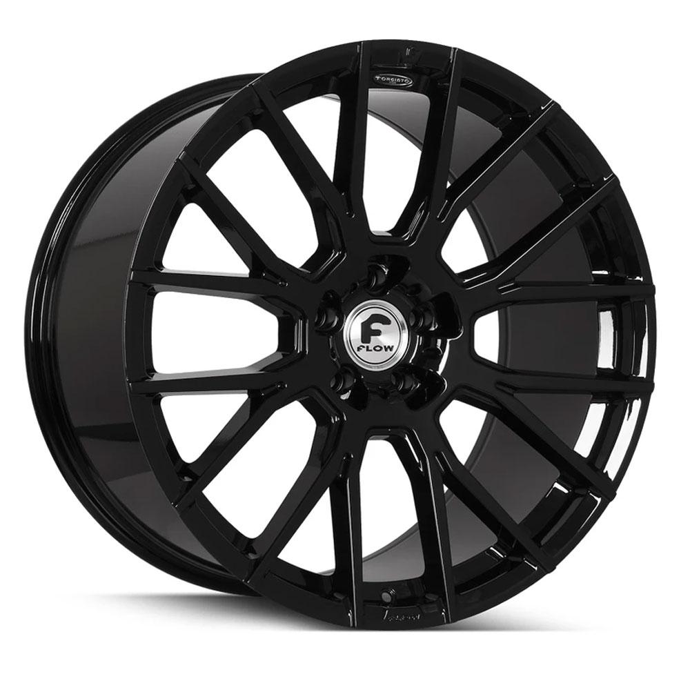 "20"" Forgiato Flow 001 Black Forged Concave Wheels Rims Fit"