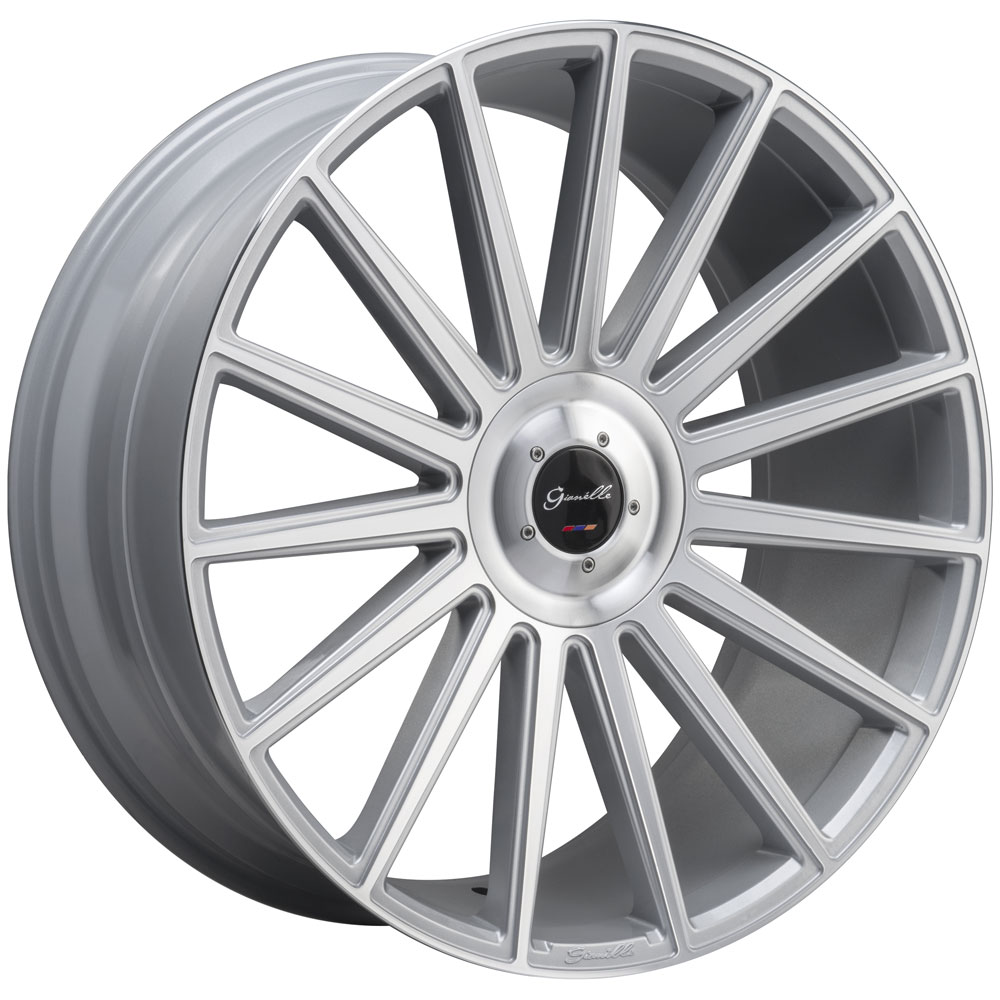 "24"" Gianelle Verdi Silver 24x10 Wheels Rims Fits Cadillac"