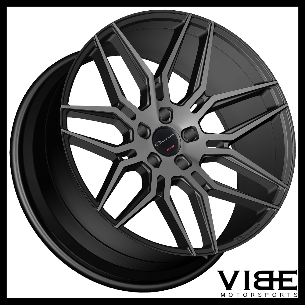 "20"" GIOVANNA BOGOTA BLACK SMOKED CONCAVE WHEELS RIMS FITS"
