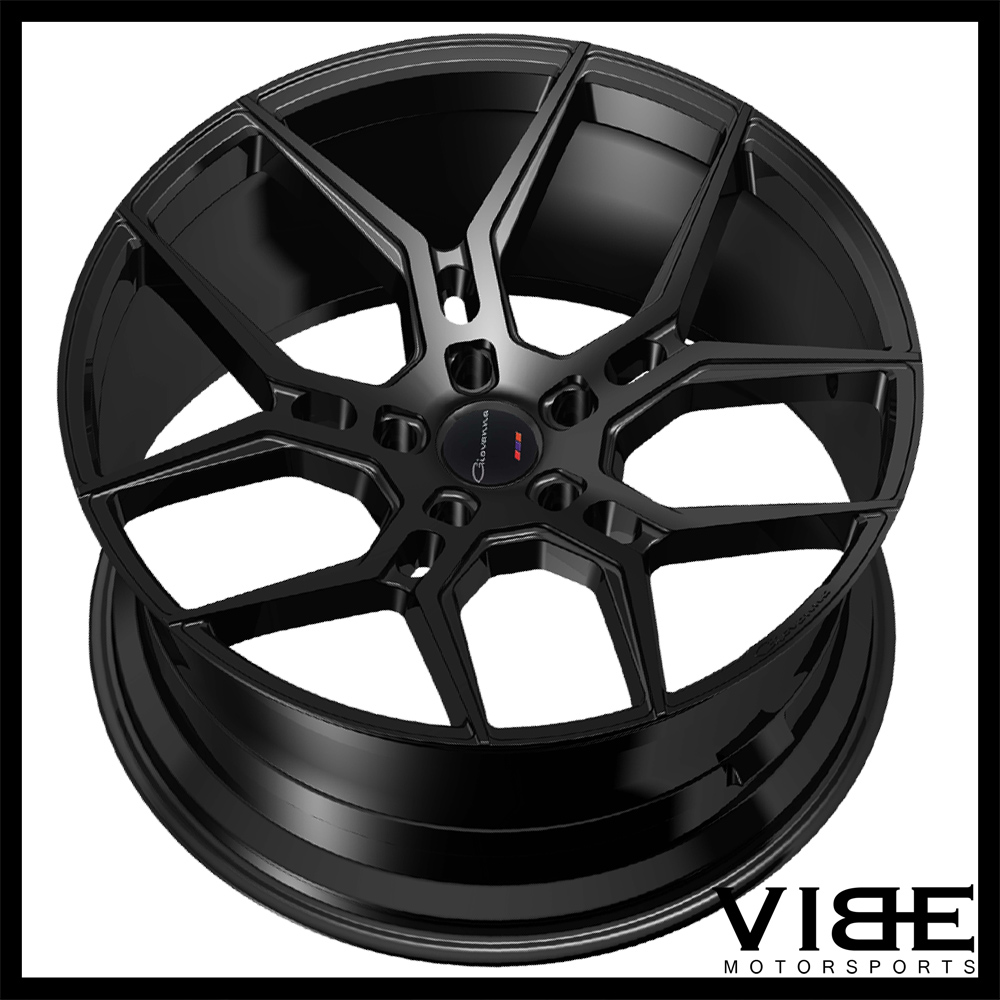 "20"" GIOVANNA HALEB GLOSS BLACK CONCAVE WHEELS RIMS FITS HONDA ACCORD COUPE 