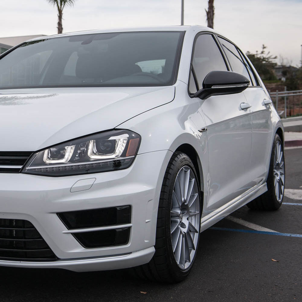 "Volkswagen Golf R: 19"" HRE FF15 FLOW FORM SILVER CONCAVE WHEELS RIMS FITS"