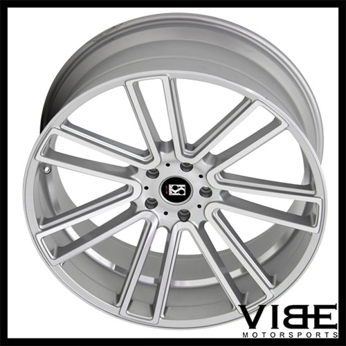 22 Koko Kuture Massa 7 Silver Concave Wheels Rims Fits Range Rover