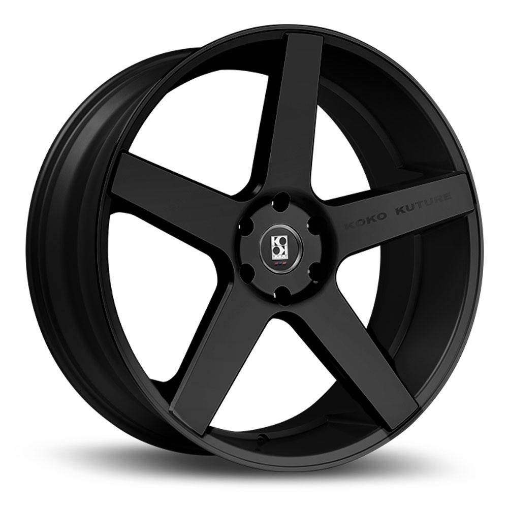 "26"" Koko Kuture Sardinia Black 26x10 Wheels Rims Fits"