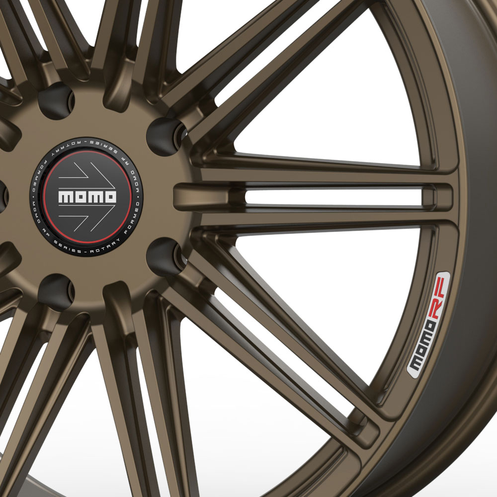 """19"""" MOMO RF-10S Bronze 19x8.5 19x9.5 Forged Concave Wheels"""
