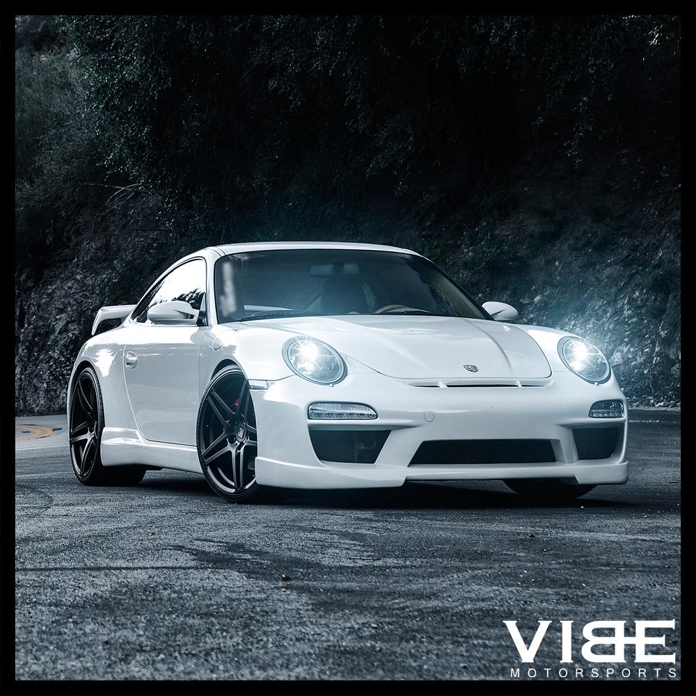 "Black Porsche Cayenne: 22"" RODERICK RW5 BLACK CONCAVE WHEELS RIMS FITS PORSCHE"