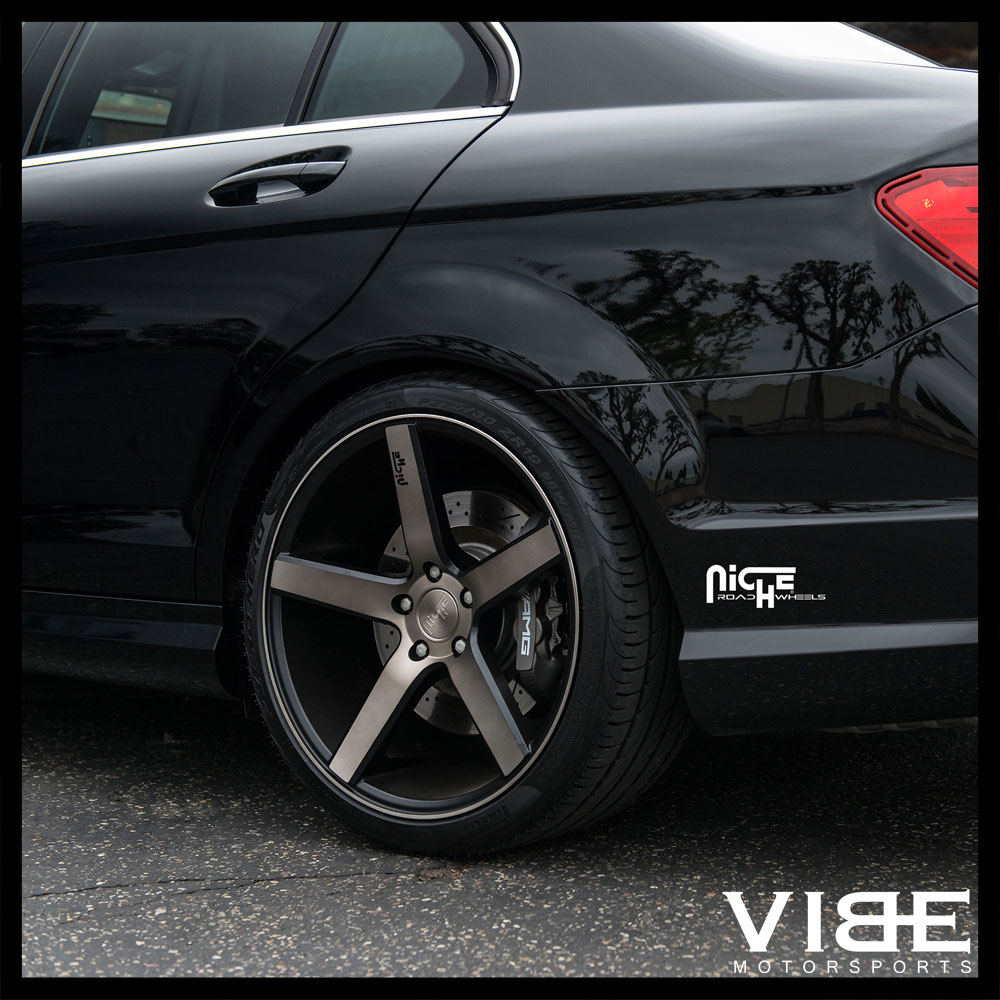 """19"""" NICHE MILAN MACHINED CONCAVE STAGGERED WHEELS RIMS"""