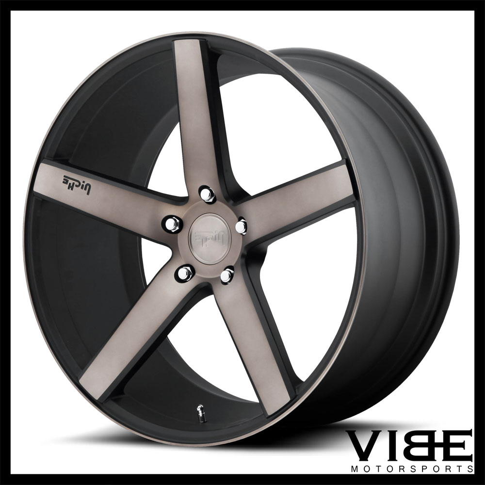 "20"" NICHE MILAN MACHINED CONCAVE STAGGERED WHEELS RIMS"