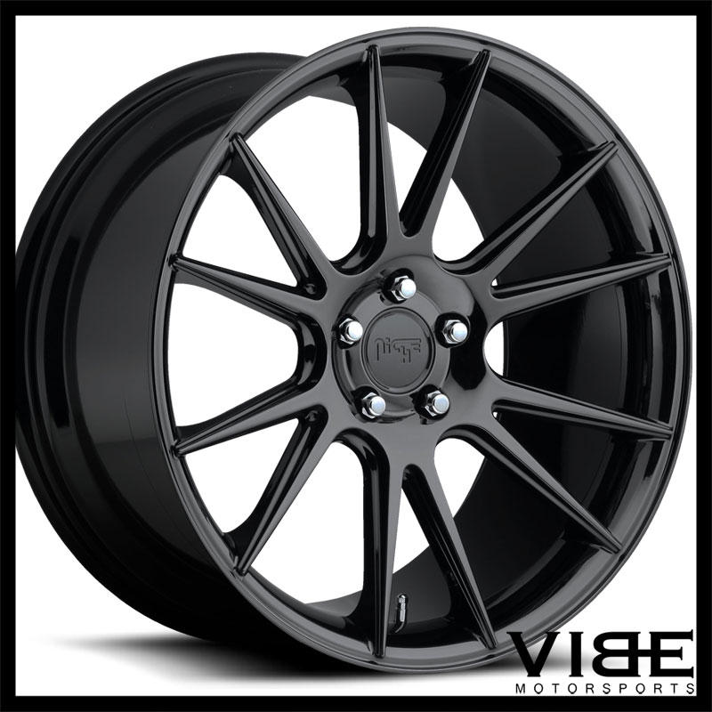 "20"" NICHE VICENZA BLACK CONCAVE WHEELS RIMS FITS CADILLAC"