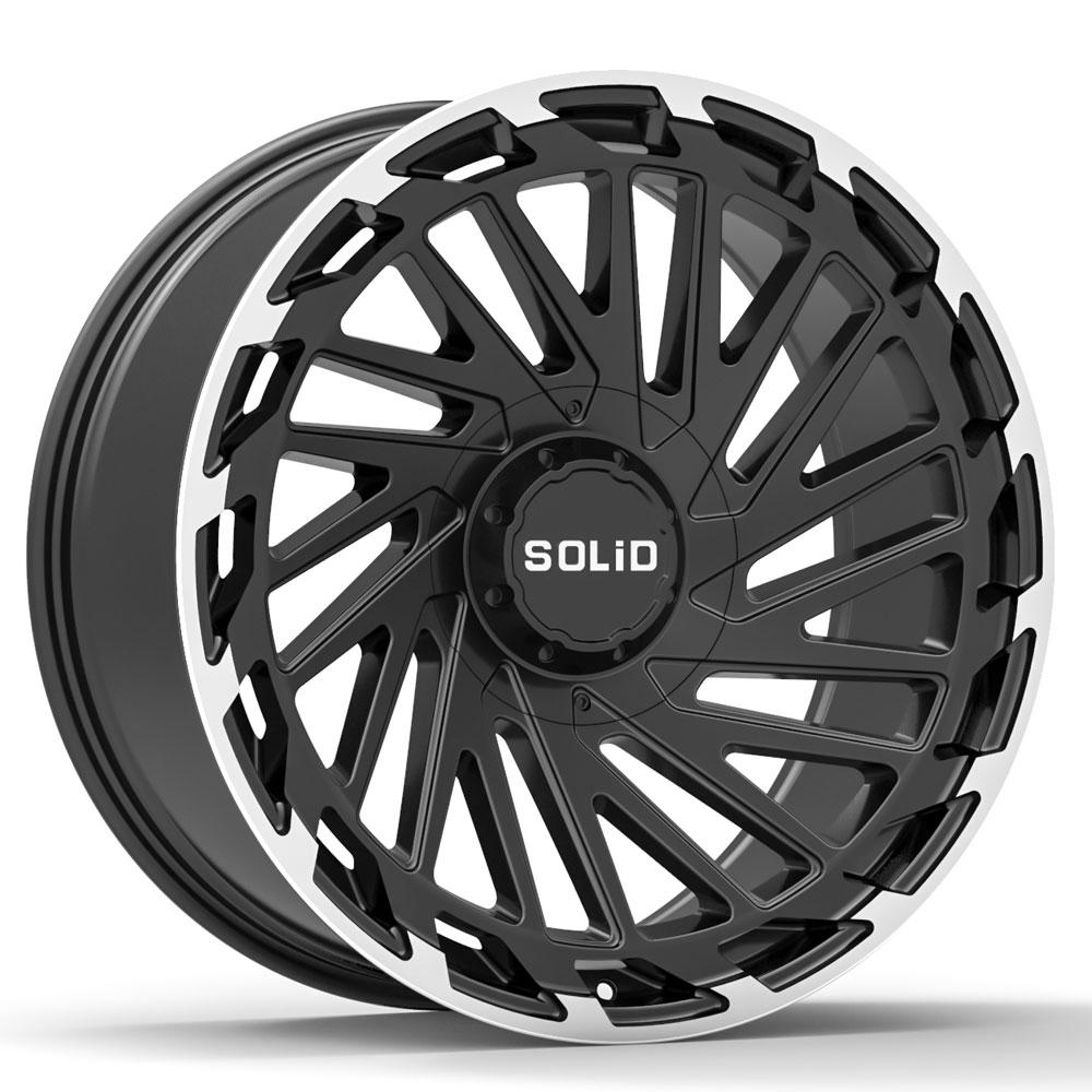 "20"" SOLID Blaze Machined 20x9.5 Wheels Rims Fits Cadillac"