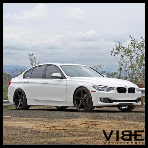 """20"""" STANCE SC5 BLACK CONCAVE WHEELS RIMS FITS BMW E39 525i"""