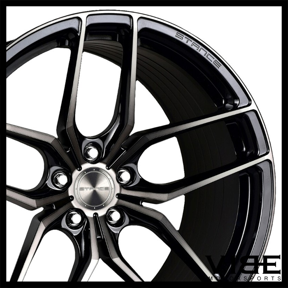 "18"" STANCE SF03 18X8.5 BLACK FORGED CONCAVE WHEELS RIMS"