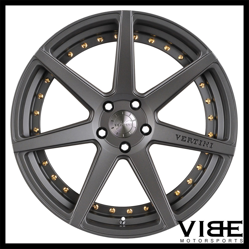 """20"""" VERTINI DYNASTY SLATE GREY CONCAVE STAGGERED WHEELS"""