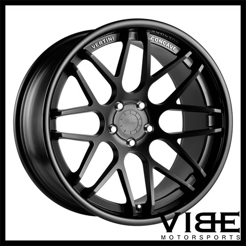 19 Vertini Magic Black Concave Staggered Wheels Rims Fits Bmw E92