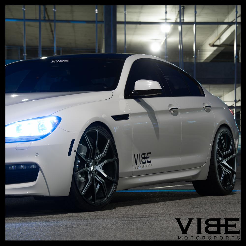 """19"""" XO VERONA BLACK CONCAVE WHEELS RIMS FITS BMW F10 528i"""