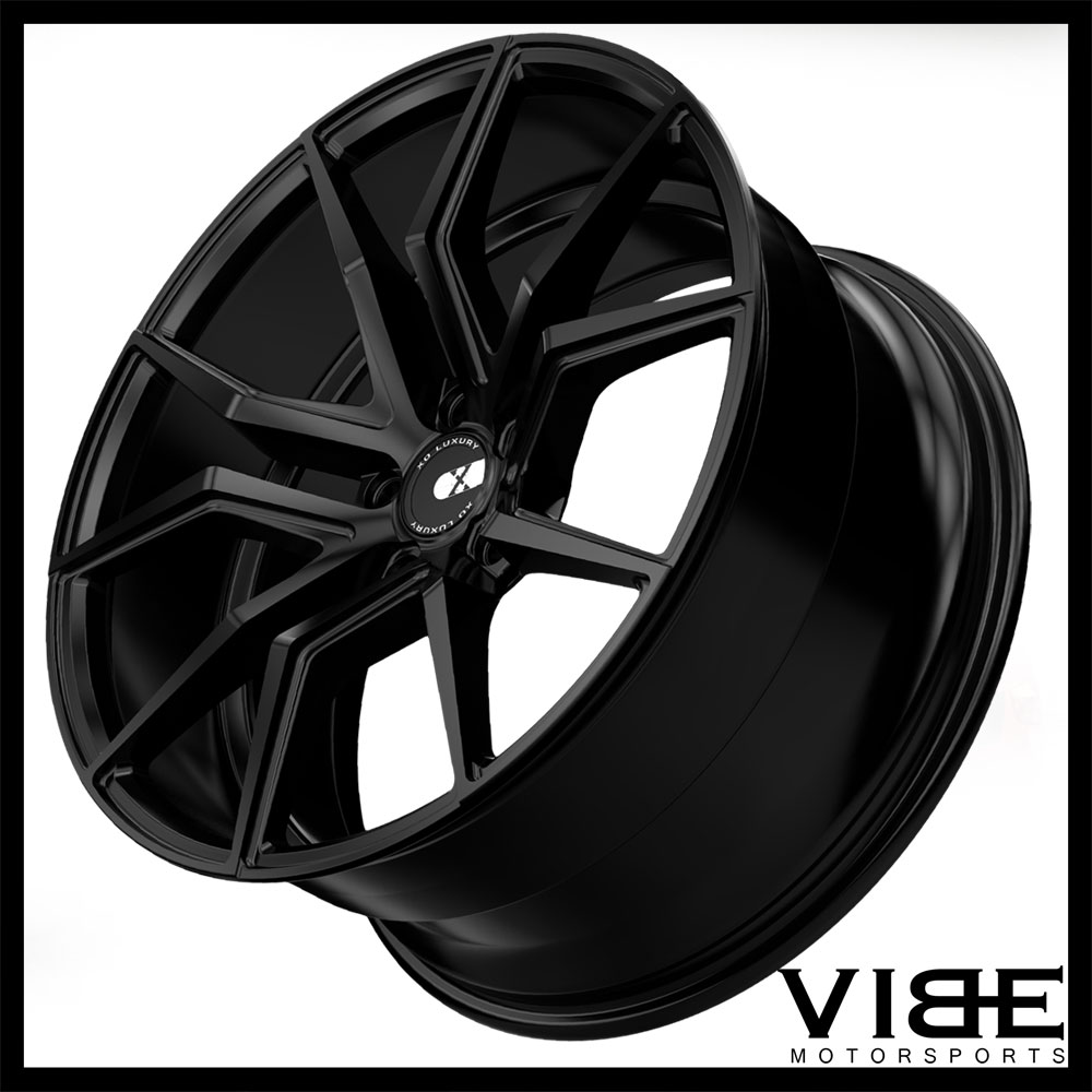 """19"""" XO VERONA BLACK CONCAVE STAGGERED WHEELS RIMS FITS"""