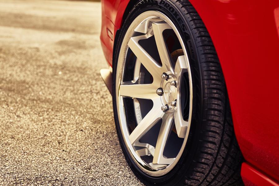 Ford Mustang Ferrada Fr Machine Silver Wheels on Dodge Center Caps For Rims