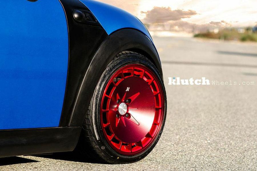 16 Quot Klutch Km16 16x8 16x9 4x100 Blue Staggered Wheels Rims
