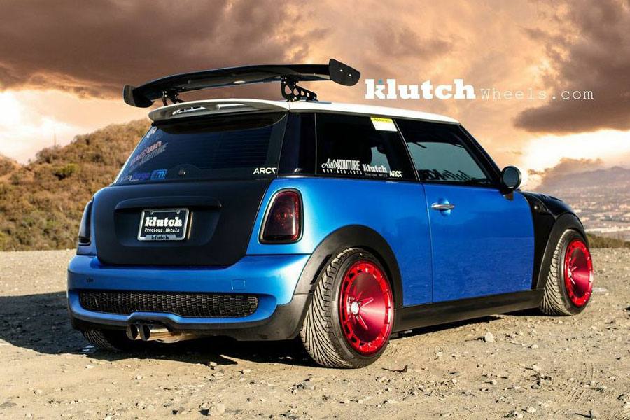 "Mini Cooper Wheels >> 16"" KLUTCH KM16 16X8/16X9 4X100 RED STAGGERED WHEELS RIMS"