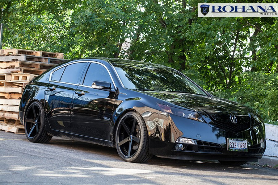 Acura Tl Wheels >> Details About 20 Rohana Rc22 Matte Black Concave Wheels Rims Fits Acura Tl