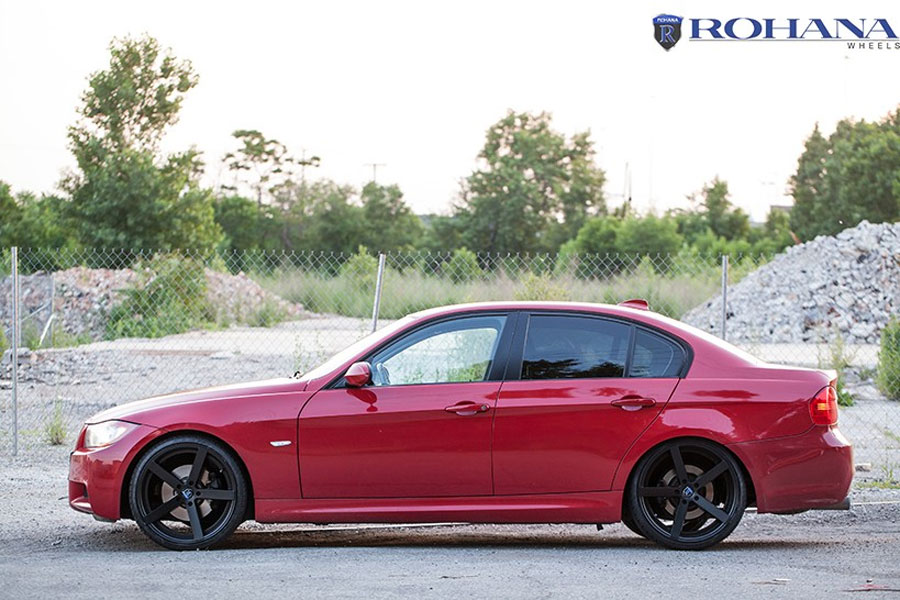 20 Rohana Rc22 Black Concave Wheels Rims Fits Bmw E92 E93 328i 335i Coupe Ebay