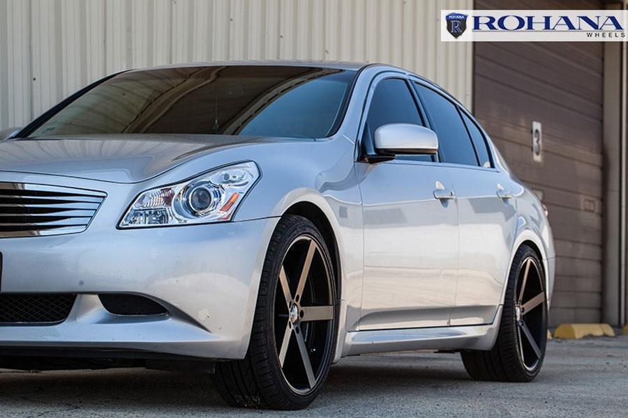 20 Quot Rohana Rc22 Black Concave Wheels Rims Fits Jaguar Xj