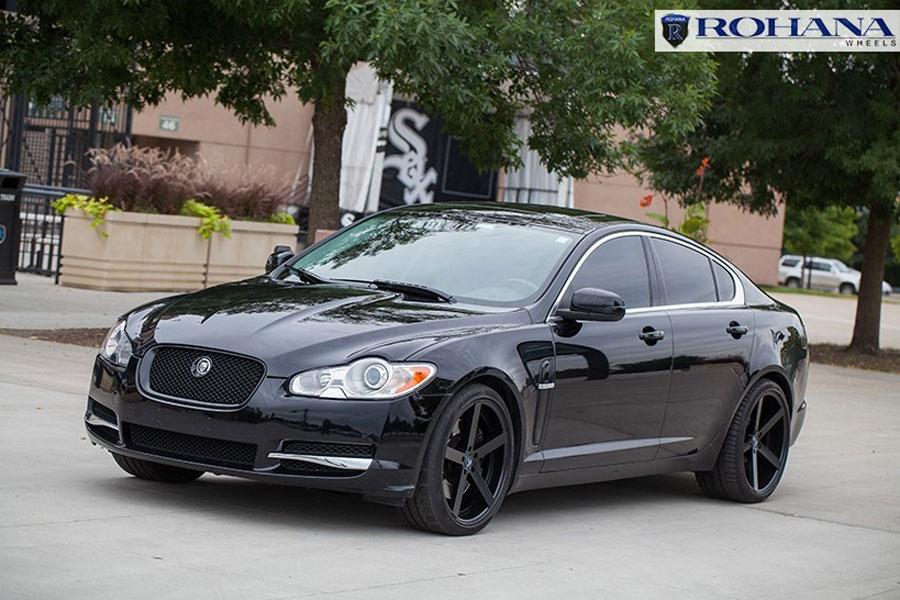 20 Rohana Rc22 Black Concave Wheels Rims Fits Jaguar Xj Xjr Xf Xfr