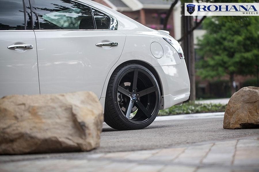 20 rohana rc22 black concave wheels rims fits nissan altima ebay. Black Bedroom Furniture Sets. Home Design Ideas