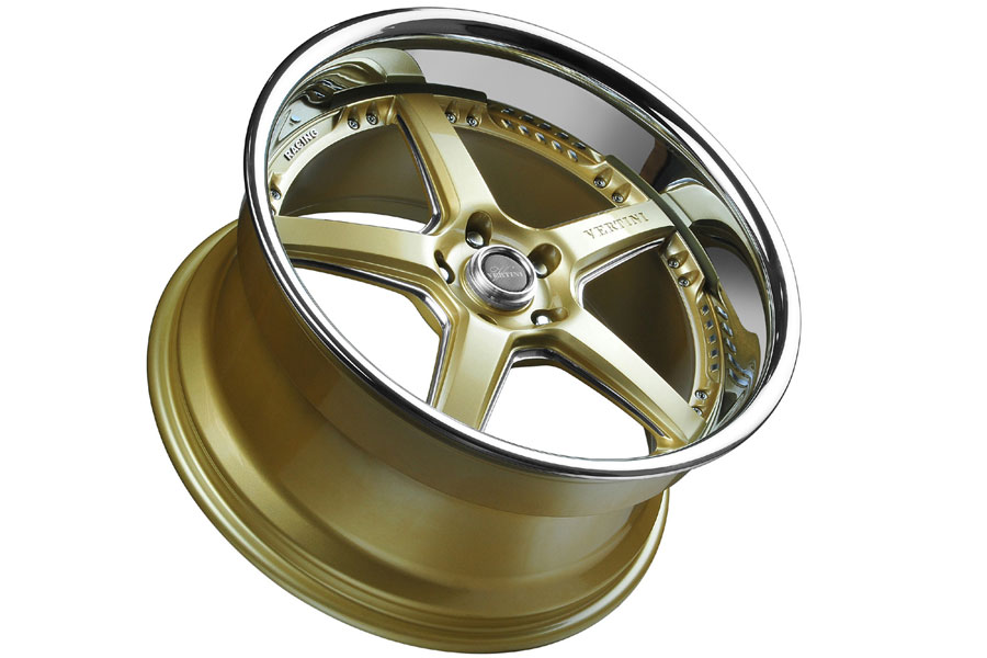 "20"" VERTINI DRIFT GOLD FIVE STAR WHEELS RIMS FITS NISSAN"
