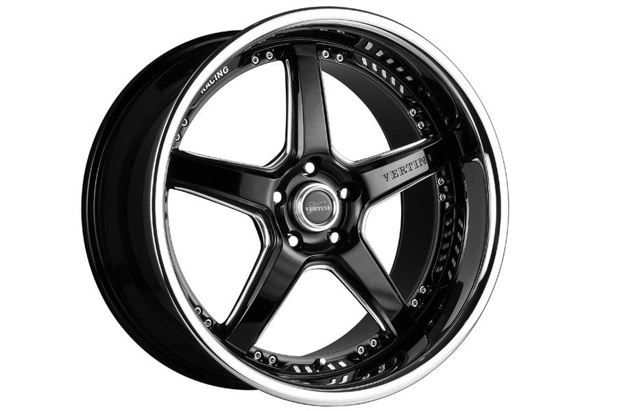 20 Quot Vertini Drift Black Five Star Wheels Rims Fits Ford
