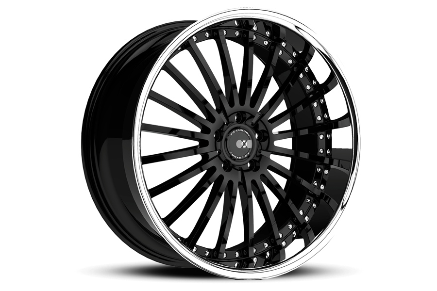 20 Xo New York Black Concave Wheels Rims Fits Audi B8 A4 S4