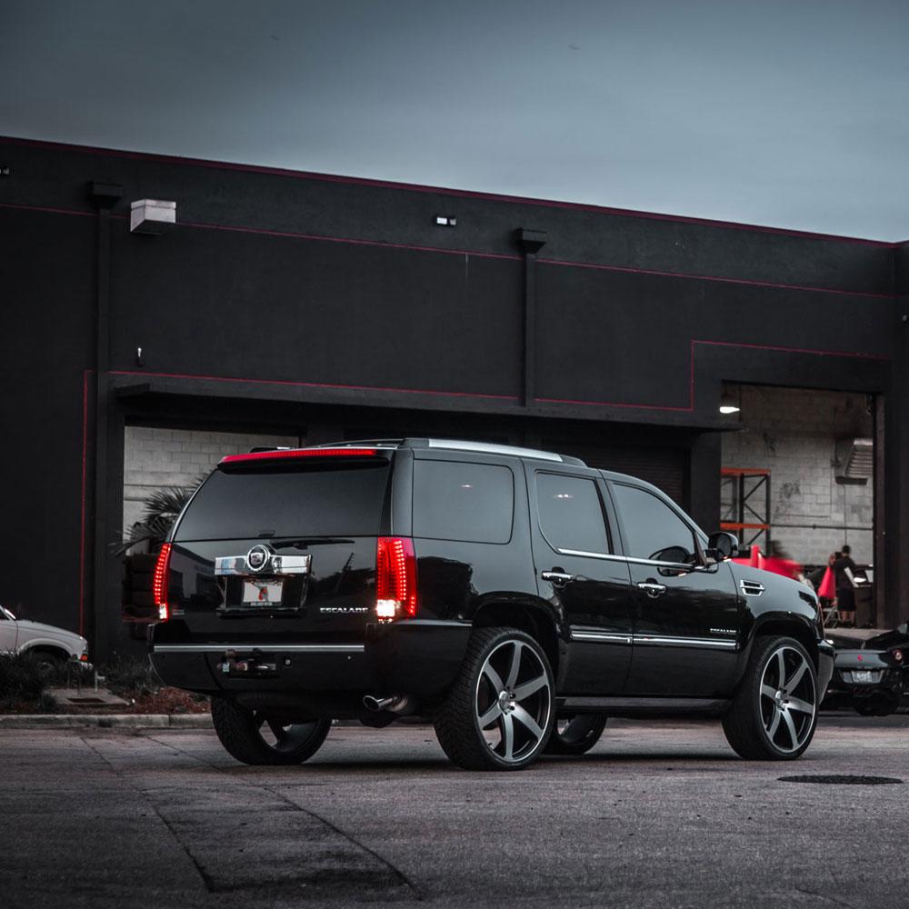 126K Cadillac Escalade Concavo Cw6 Matte Black Machined Wheels 09 2015 01 08 1640 196K Chevy Camaro